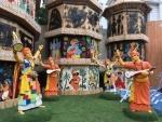 Chalta Bagan puja pandal recreates Bengali culture