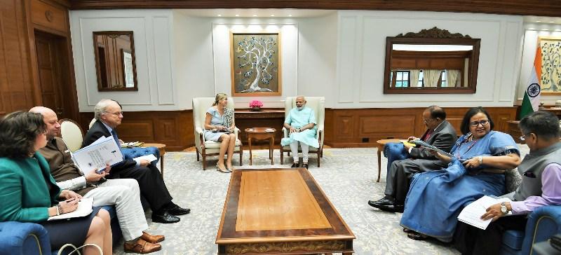 Modi meets Queen Maxima of the Netherlands