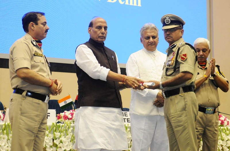 Union Minister gives away awards at BSF investiture ceremony in New Delhi