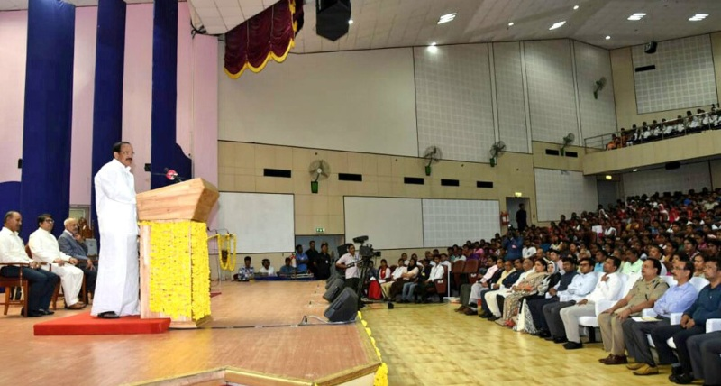 VP Venkaiah Naidu interacts with scientists, scholars, students at Dr. B.R. Ambedkar Institute of Technology