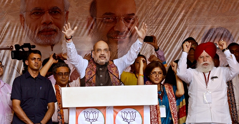 Amit Shah attacks Mamata in Kolkata Rally