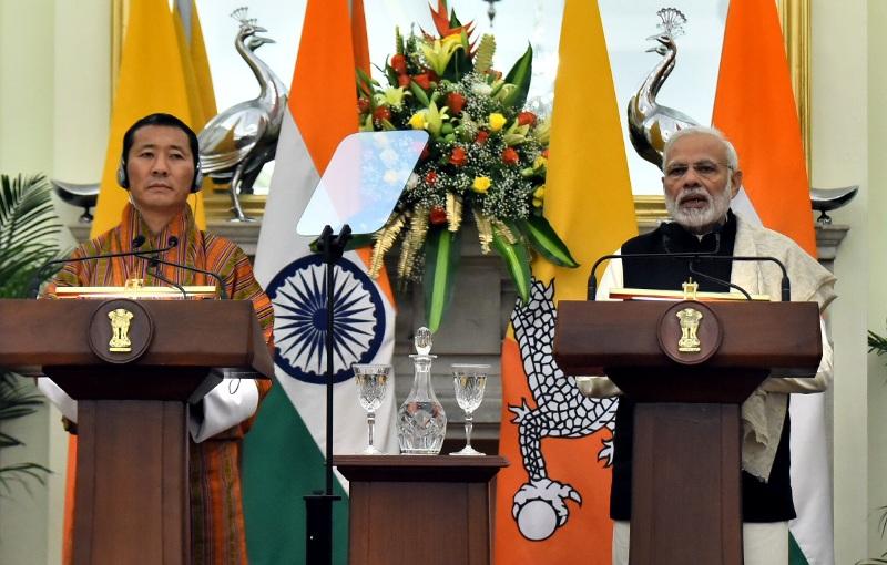 Prime Minister Narendra Modi meets Prime Minister of Bhutan Dr. Lotay Tshering