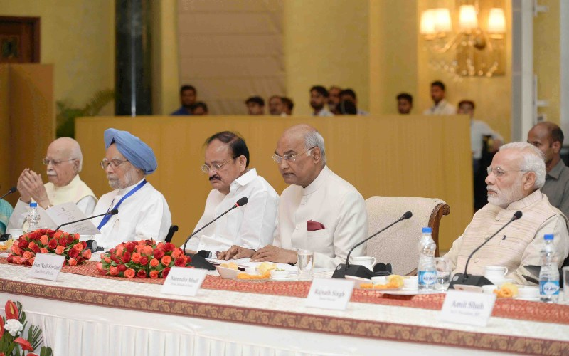 President Kovind attends commemoration of 150th birth anniversary of Mahatma Gandhi at Rashtrapati Bhavan, chairs meeting