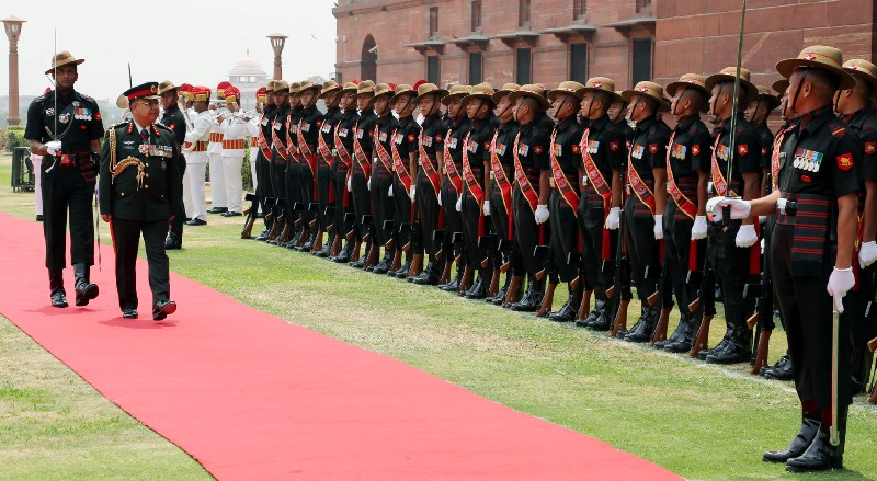 Nepal Army Chief calls on India's Defence Minister in New Delhi