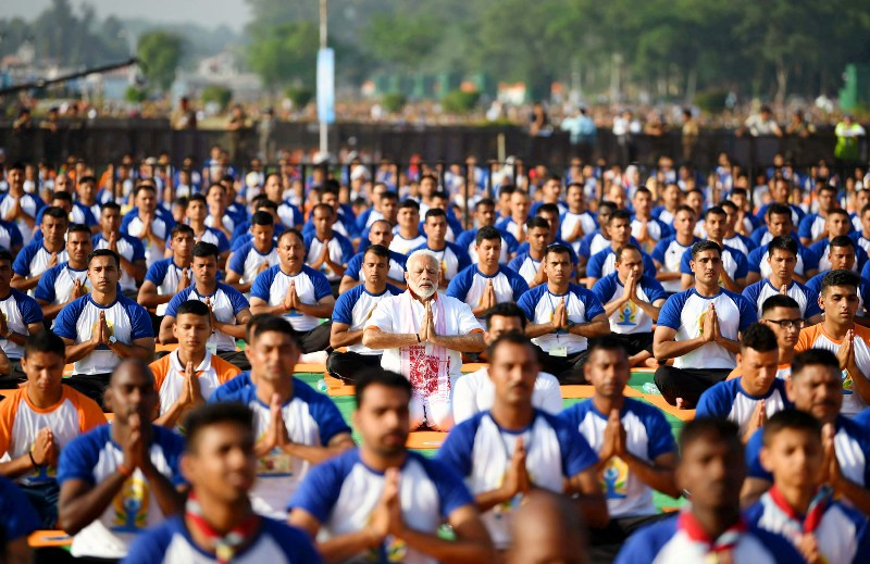 PM Modi performs Yoga on International Yoga Day in Dehradun