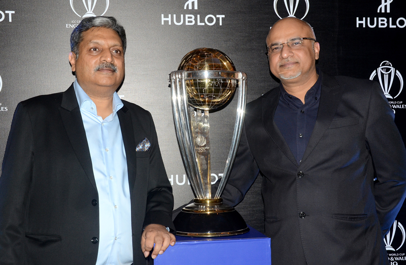 Hublot unveils ICC CWC 2019 England & Wales Trophy to cricket fans in Kolkata