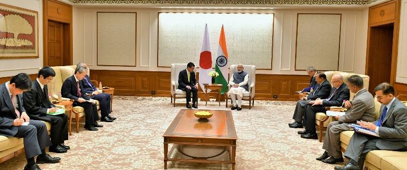 Japan foreign minister Taro Kono calls on PM Modi