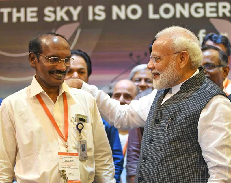 PM Modi interacts with ISRO chairman in Bengaluru
