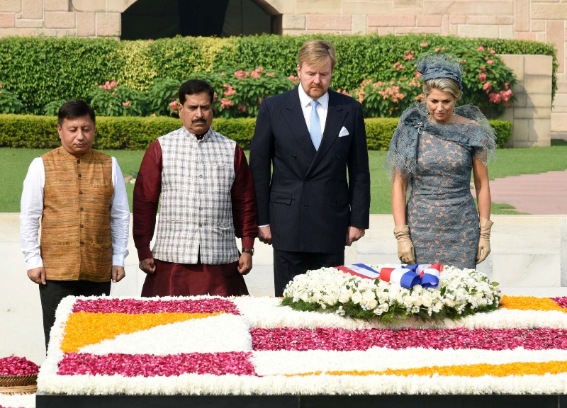 King Willem-Alexander and Queen Maxima of Netherlands pay homage to Mahatma Gandhi
