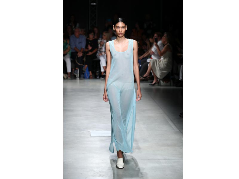 Models walk the ramp for designer Marco Rambaldi at Milan Fashion Week