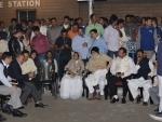 Mamata sits on dharna against CBI move to quiz Kolkata police chief