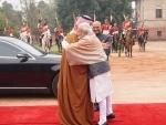 President Kovind, PM Modi receive Saudi Crown Prince Mohammed Bin Salman at Rashtrapati Bhavan