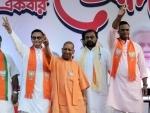 UP CM Yogi Adityanath campaigns in Kolkata