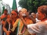 BJP performs strongly in Lok Sabha: Part workers celebrate in Kolkata