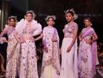 Models walk ramp during India Couture Week-2019