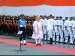 PM Modi inspects Guard of Honour at Red Fort