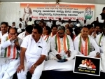 Karnataka Congress protests against BJP governments in Bengaluru