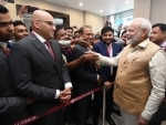 Indian community welcomes PM Modi in Russia