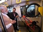 PM Modi visits Metro Coach Exhibition area in Mumbai