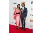 Shibani Dandekar, Farhan Akhtar at The Sky Is Pink's premiere in TIFF 2019