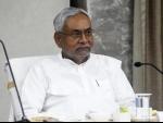 Nitish Kumar at a review meeting in Patna