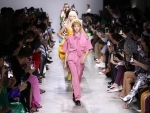 Models walk the ramp for designer Annakiki at Milan Fashion Week