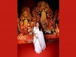 Actress Rani Mukerji visit NB Sarbojanin Durga Puja Pandal