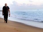 PM Modi walks, does exercise along the coast in Mamallapuram