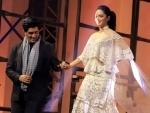 Kiara Advani, Manish Malhotra pose at Blenders Pride Fashion Tour 2019
