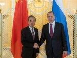 Chinese State Councilor and Foreign Minister Wang Yi meets Russian Foreign Minister Sergei Lavrov