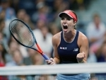 Danielle Collins of US during Women's singles in US Open