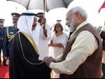 PM Modi received by Bahrain PM HH Prince Khalifa Bin Salman Al Khalifa in Bahrain