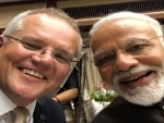 Australian PM Scott Morrison clicks selfie with Narendra Modi
