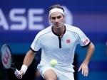 Roger Federer during Men's Singles in US Open