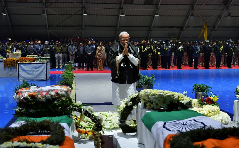 PM Modi pays tribute to slain CRPF soldiers