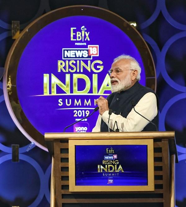 PM Modi addresses News18 Rising India Summit