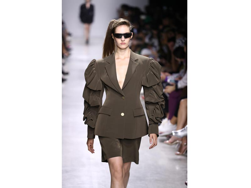 Models walk the ramp for designer Annakiki at Milan Fashion Week