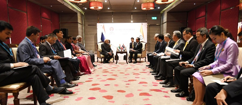 Narendra Modi meets Prime Minister of Thailand General Prayut Chan-o-cha