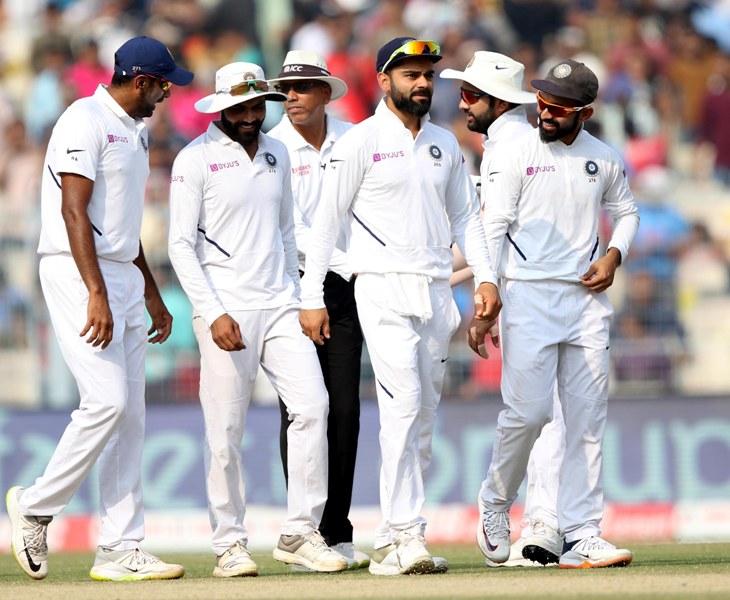 Indian team clinch Pink Test match