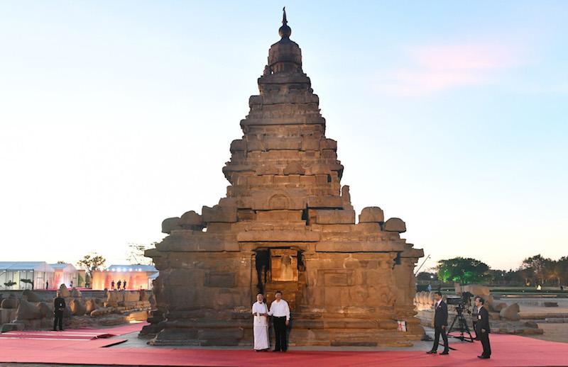Modi, Jinping talk and pose for camera at Mamallapuram UNESCO World Heritage Site