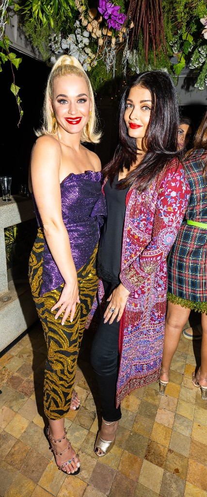 Pop diva Katy Perry at a star-studded party hosted by Karan Johar