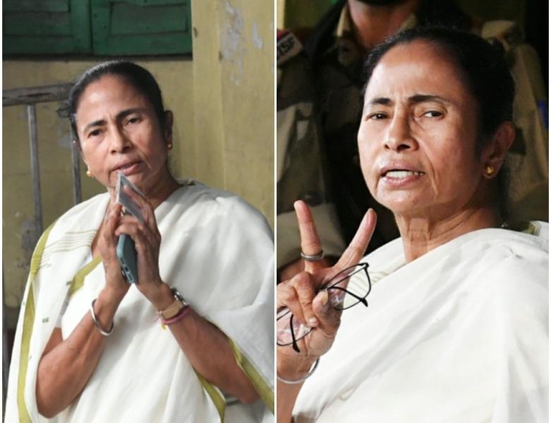 Mamata Banerjee casts her vote in Bengal