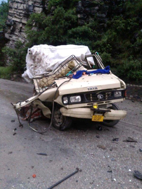 Accident in Chandigarh-Manali highway