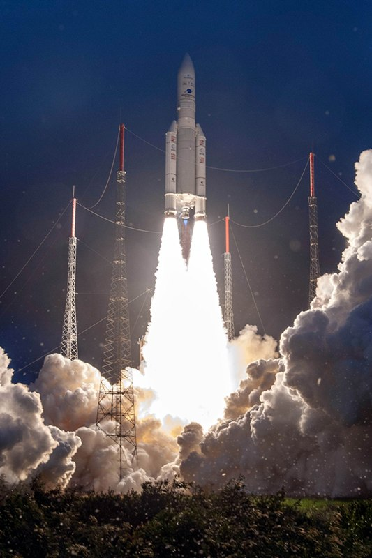 Ariane 5VA-251 carries India's Communication Satellite GSAT 30