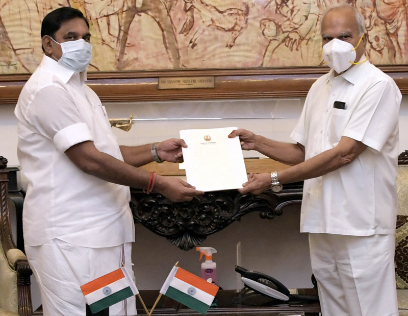 COVID-19: Tamil Nadu Chief Minister K Palaniswami hands over report to Guv