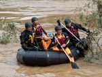 South Korean soldiers search for people swept away by strong current in Chuncheon