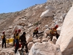 Pakistan: Rescuers search for miners after rock slide