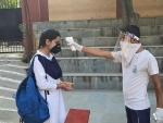 Santisation of Jammu school amid COVID-19