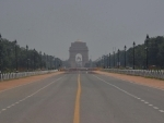 Rajpath barricaded near India Gate amid Covid19 pandemic in New Delhi