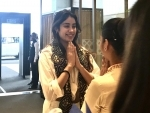 Actress Janhvi Kapoor arrives in Kolkata